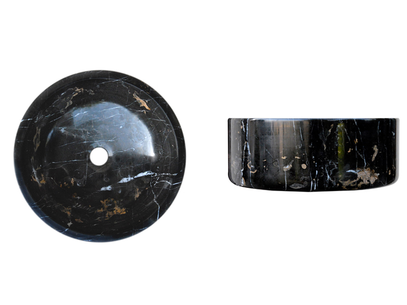 Michelangelo / Black and Gold SK-1009 | Marble Sink