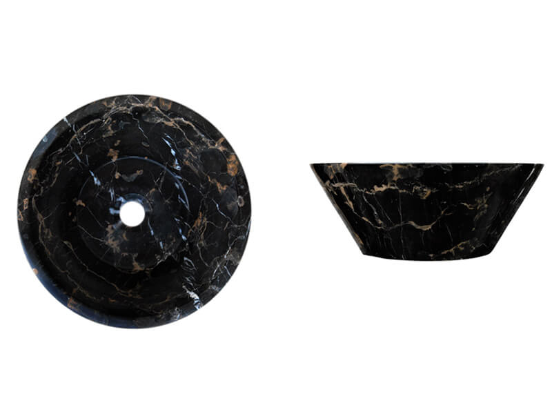Michelangelo / Black and Gold SK-1010 | Marble Sink