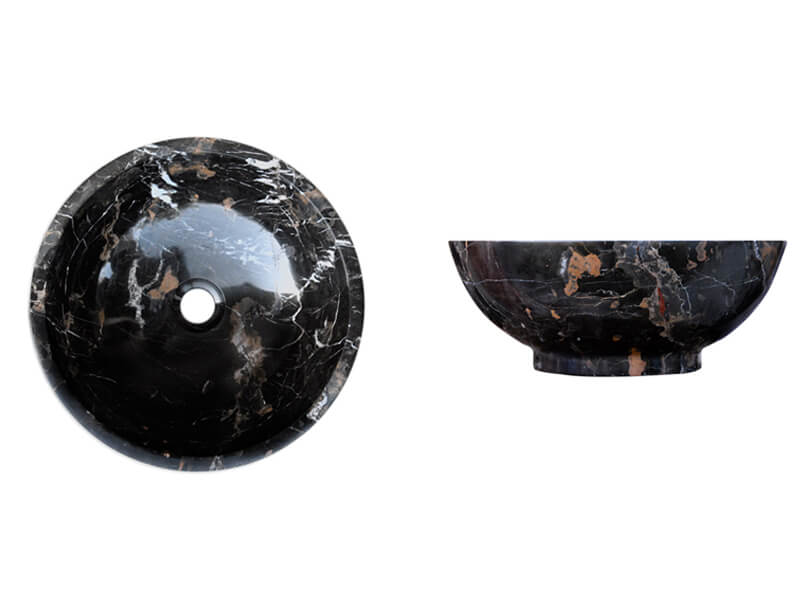 Michelangelo / Black and Gold SK-1014 | Marble Sink